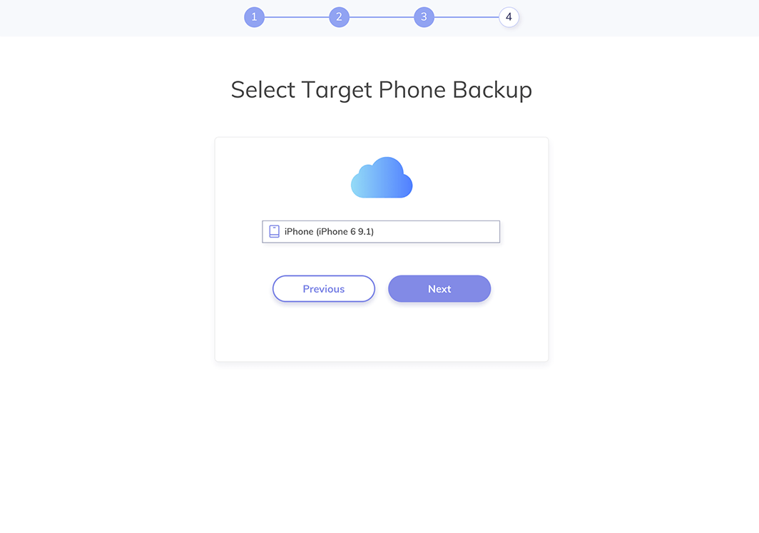 select which iphone to track